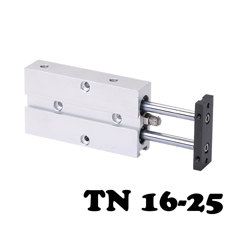 TN16*25 Two-axis double bar cylinder Standard Pneumatic Cylinder  Type Attached Magnet Air