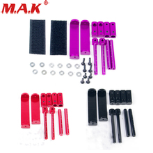 Purple Black and Red Magic Tape as Adjustable Stealth Body Shell Mount for 1/10 HSP HPI RC Car Model Parts and Accessories цена в Москве и Питере