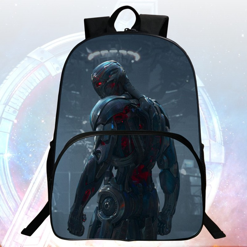 Hot Sale 16 inch Prints Avengers Child Backpack Terrorist Monster Boys School Bags Students Mochila Bag Kids School Backpacks