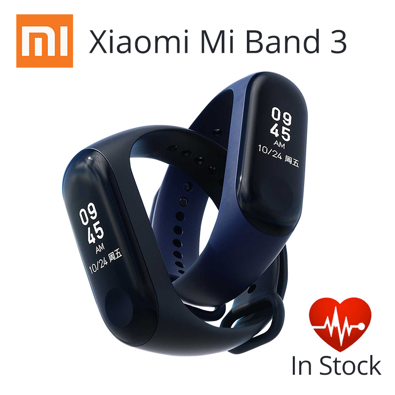 Xiaomi Mi Band 3 Smart Bracelet Activity Miband 3 0.78 Inch OLED Touchpad band 2 Update  Heart Rate Monitor Band3 Fast Shipping(China)