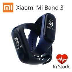 Expédition rapide! Original Xiao mi mi bande 3 Bracelet intelligent 0.78 pouces OLED Touchpad bande 2 mise à jour moniteur de fréquence cardiaque Fitness Sports