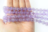 loose beads light amethyst round faceted 8/10/12mm 15for DIY jewelry making FPPJ wholesale beads nature gem stone