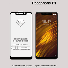Xiaomi Poco F1 Screen Protector 5D 9D Tempered Glass Pocophone Full Coverage Protective Film Glue Adhesive