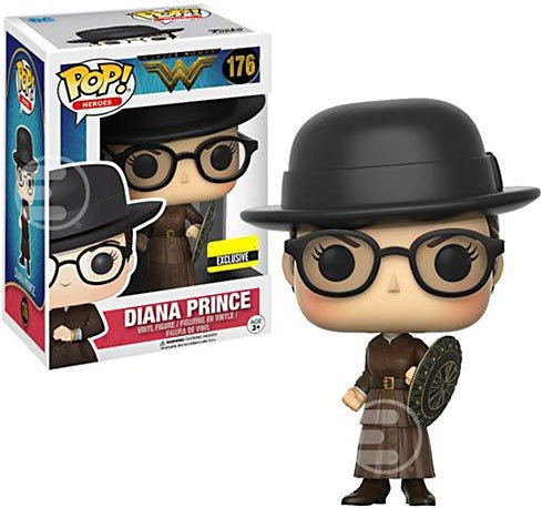 Exclusive Funko pop Official DC Movies: Wonder Woman - Diana Prince Vinyl Action Figure Collectible Model Toy with Original Box