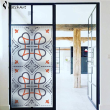 1PC Frosted Stained Style Privacy Window Bath Door Film Glass Sticker Office 45*90CM/60*100CM