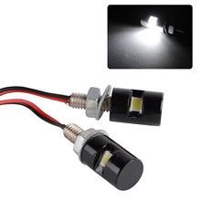 2X New White Motorcycle Mini License Plate Screw Bolt Light Black for Car Motor Motorbike DC 12V SMD LED Bulb Lamp