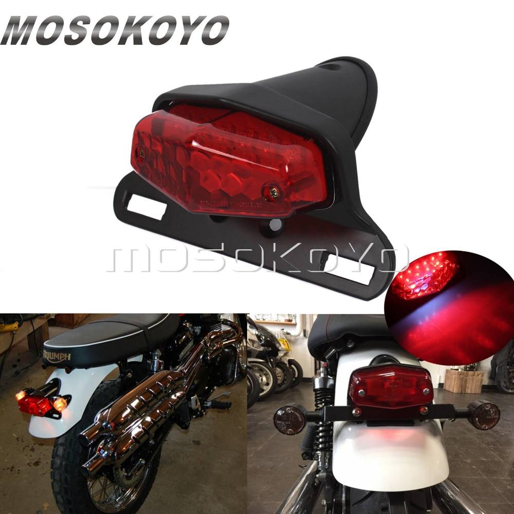 Motorcycle Lucas Taillights LED Vintage Brake Stop Light Emark Tail Light For Harley Chopper Scrambler Cafe Racer