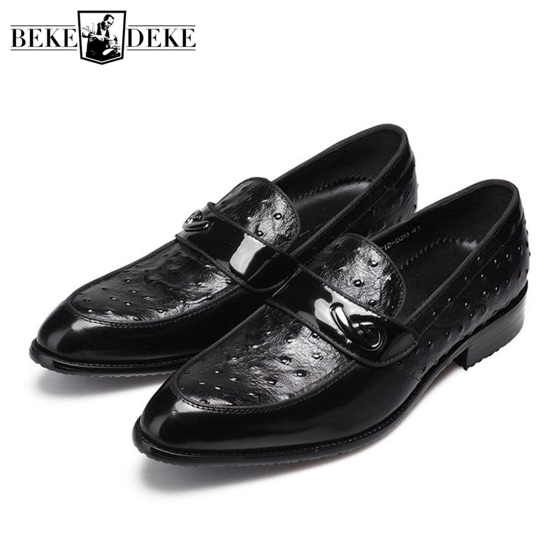 British Formal Business Leather Shoes Men Pointed Toe Slip On Cow Leather Dress Loafers Luxury Brand Oxford Wedding Footwear Men mycolen men formal shoes luxury business dress shoes full leather pointed toe loafers men wedding leather shoe black moccasins