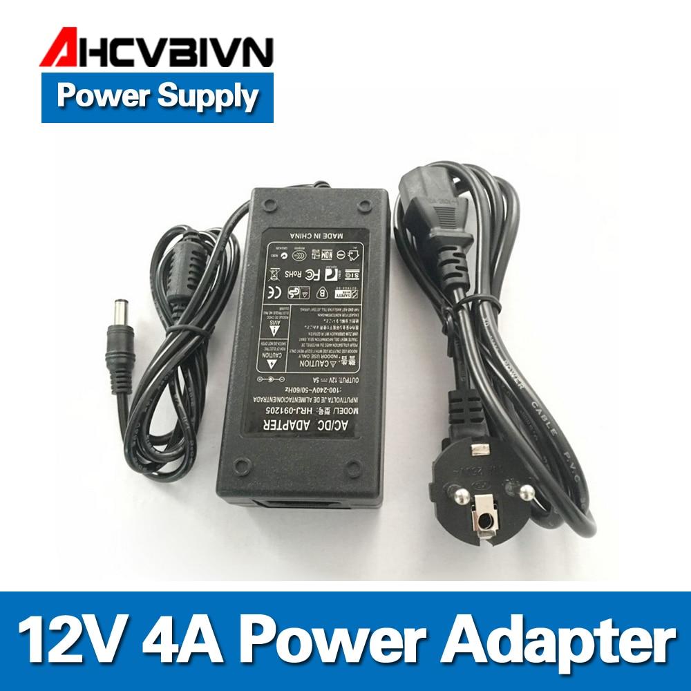 AHCVBIVN 12V 4A Power supply for led strip EU/US/UK/AU adapter for AC110-220V to DC12V options plug transformerAHCVBIVN 12V 4A Power supply for led strip EU/US/UK/AU adapter for AC110-220V to DC12V options plug transformer
