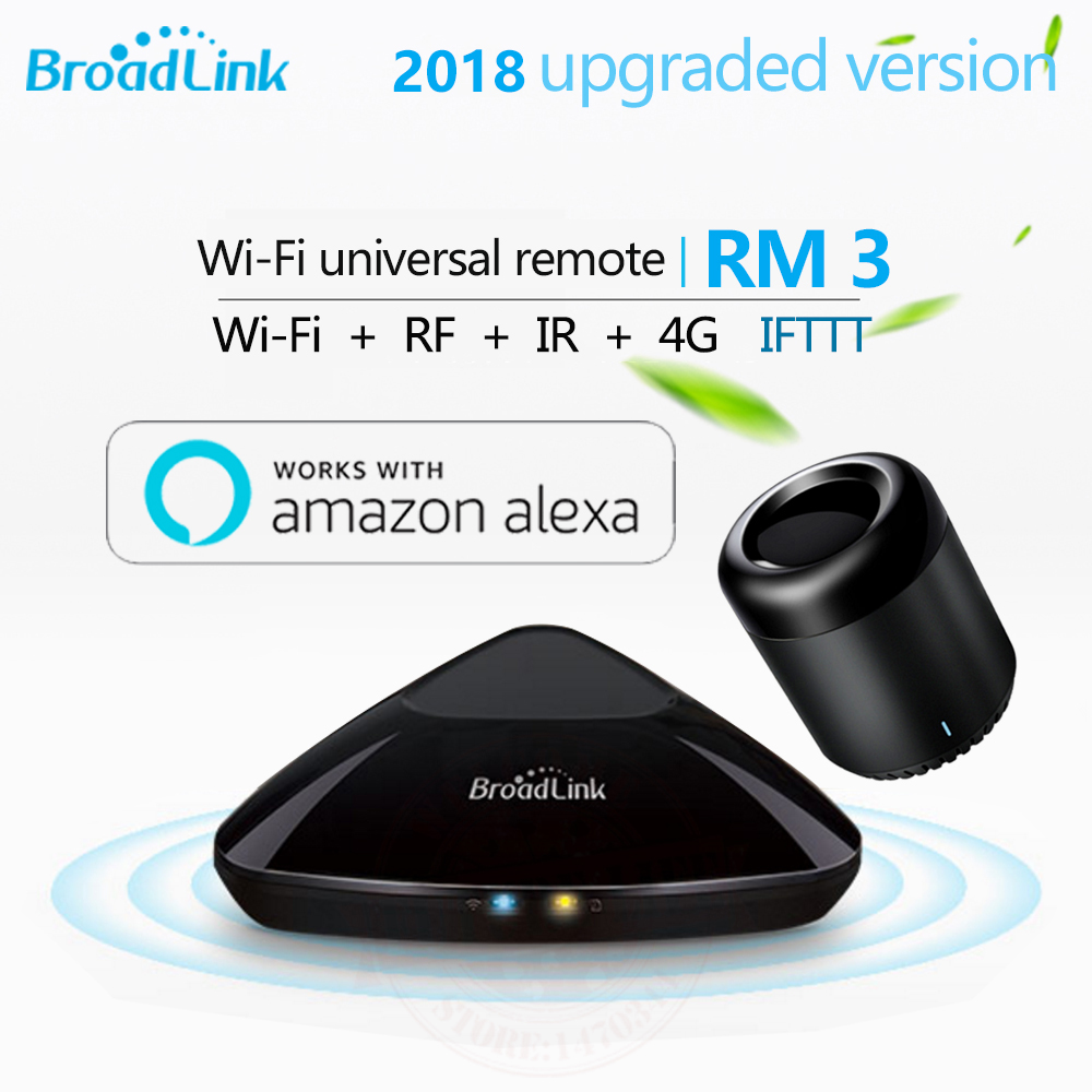 Broadlink RM3 RM Pro+/RM mini3 Smart Home Automation Remote Universal controller Intelligent WIFI+IR+RF Switch For iOS Android broadlink rm pro universal ir remote control smart 433 rf remote compatible alexa for apple xiaomi smartphone home automation