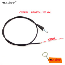 XLJOY 1200mm 47' Straight Head Black Motorcycle Gas Throttle Cable For