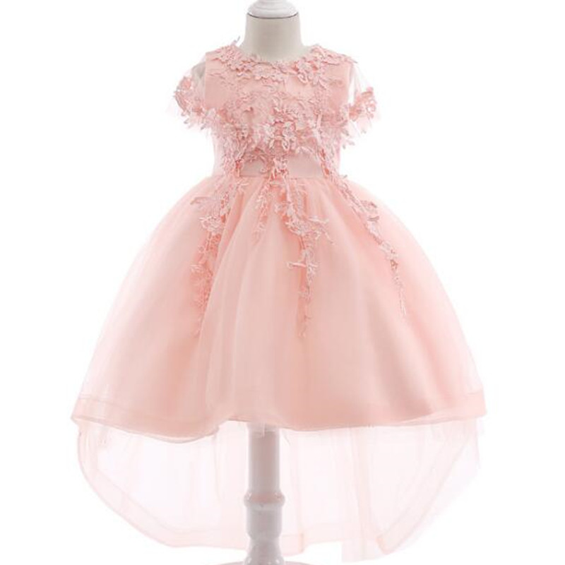 Baby Girl Princess Dresses Shawl Lace Flowers Kids Clothes Wedding Dress For Birthday Party Kids Toddler Clothing Children wear toddler girl princess dress flower kids dresses for baby girls clothes dresses for party and wedding clothing 13 color choose