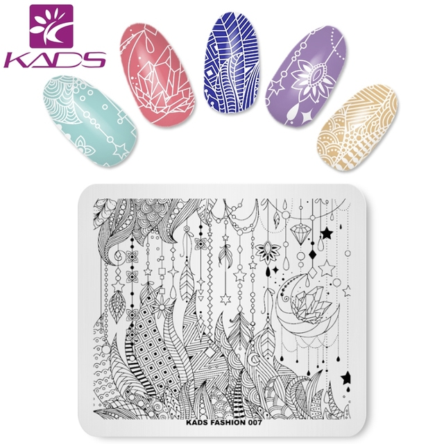 KADS Fashion 007 Pattern Nail Art Stamp Template Nail Stamping Plate ...