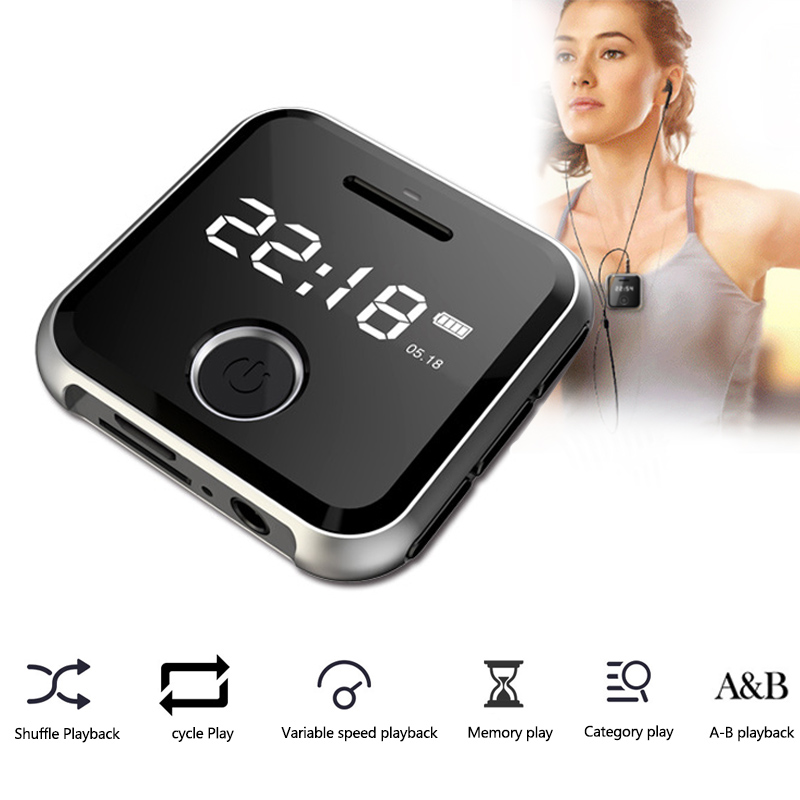 HiFi MP3 Music Player Mini Clip Sports Watch MP3 Player 8GB 0.9