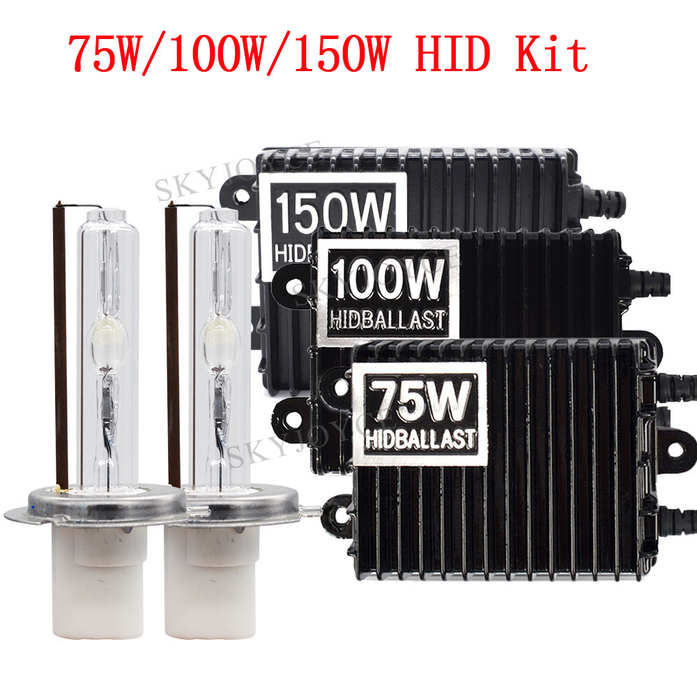Car Headlight 75W HID Bulb Ballast Kit 4300K 6000K Bulb H1 H7 H11 9005 D2H HID