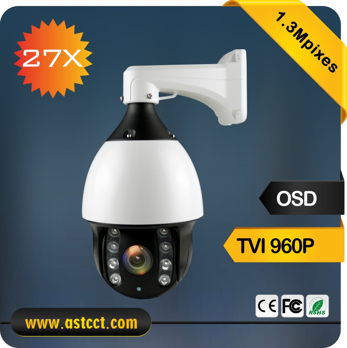 Low cost Sony Design CVI PTZ Camera HD 1.3Mpixes TVI IR High Speed Dome Camera 27x Zoom Outdoor PTZ Camera IR 120M 2mp 1080p surveillance ptz ir speed dome camera 10x optical zoom cvi ahd tvi cvbs osd menu transfer hd coaxial control rs485