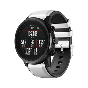 Image 5 - 22mm Watchband For Huawei Watch GT Strap Silicone Leather Bracelet For Xiaomi Amazfit Stratos/Pace For Samsung Galaxy Watch 46mm