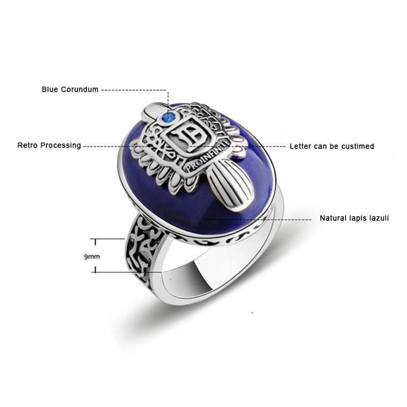 925 Sterling Silver Customized Damon Salvatore Ring