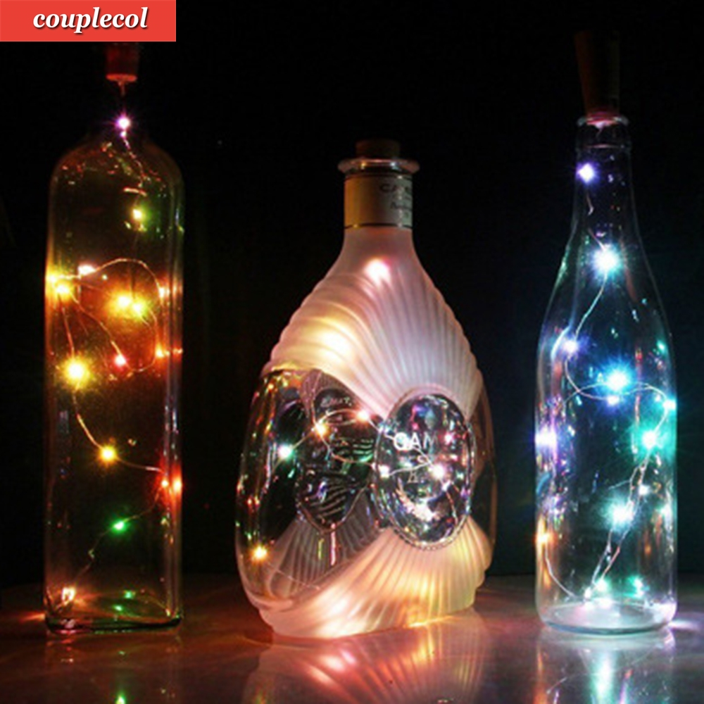 2017 Hot Sale 20 LED Chic Cork Shaped Night Starry Light Operated Light Power Light Wine Bottle Lamp For Xmas Decor Cool