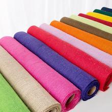 13 Colors Jute Burlap Fabric Ribbon Roll DIY Sewing Craft Tablecloth Home Decor Set