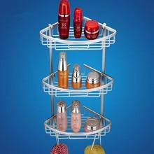 Aluminiumlegierung drei tier bad regal blasket bad regal wand badezimmer dusche caddy shelf becher regal bad
