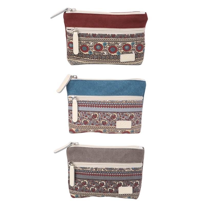 Fashion New Women Lady Girl Retro Canvas Mini Coin Phone Bag Purse Change Wallet Card Case Holder High Quality