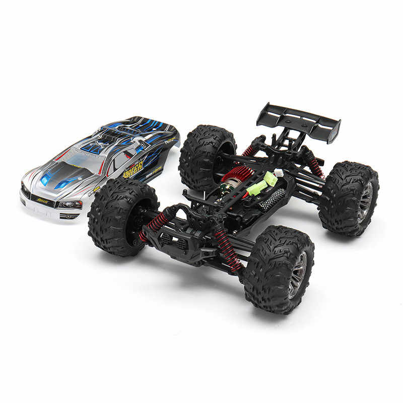 Xinlehong 9136 1/16 2.4G 4WD 32 Cm RC Mobil Balap 36Km/Jam Bigfoot Truk Off-Road Kendaraan Kereta rtr Mainan Vs Xinlehong 9125 Hadiah Anak