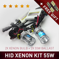 55W HID XENON KIT HEADLIGHT SLIM BALLAST DC H7 H3 H7 H8 H9 H11 9005 9006