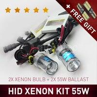 55W HID XENON KIT HEADLIGHT SLIM BALLAST DC H7 H3 H7 H8 H9 H11 9005 9006