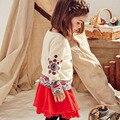Дети Девушка Майка Новый Девочка Футболка С Длинным Рукавом ребенок Одежда Для Девочек Нова Мультфильм Roupa Infantil Дети Т рубашки