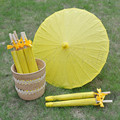[ Fly Eagle ]30PCS Summer Beach Wedding Paper Bamboo Parasol Sun Yellow Umbrella Bride Bridal Party Gift