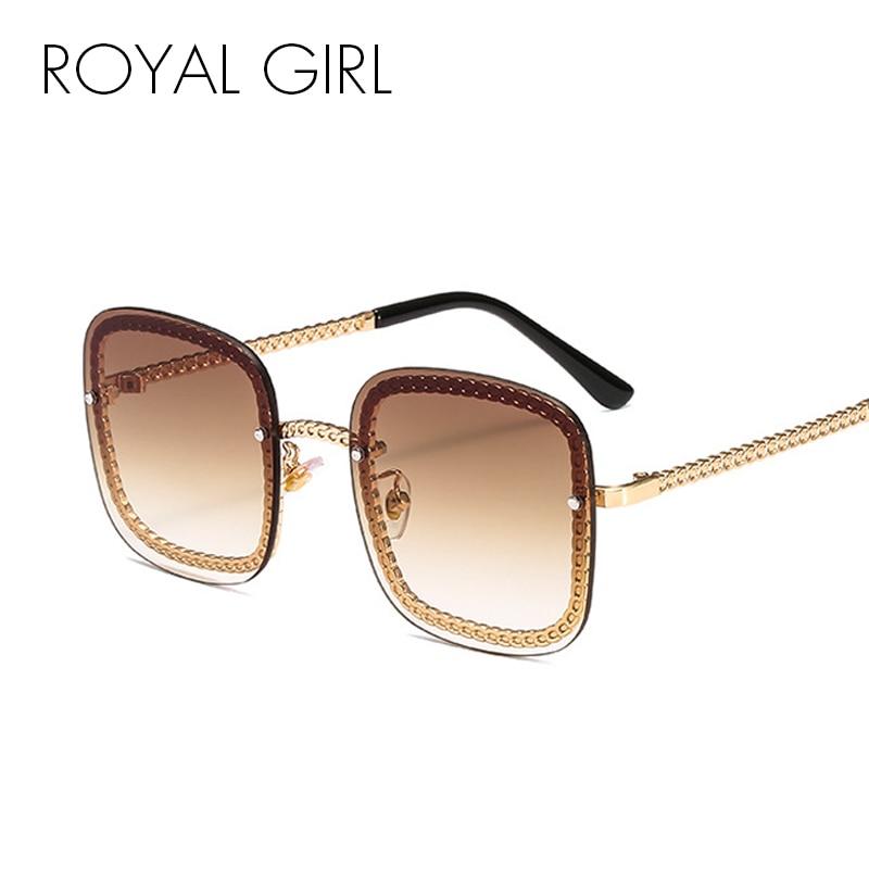 ROYAL GIRL Luxury Rimless Sunglasses Women 2019 Brand