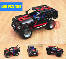 цена на New Cruiser land SUV toys Car Hummer fit technic car city building Blocks bricks Model diy kits 8081 gift kid boy diy birthday
