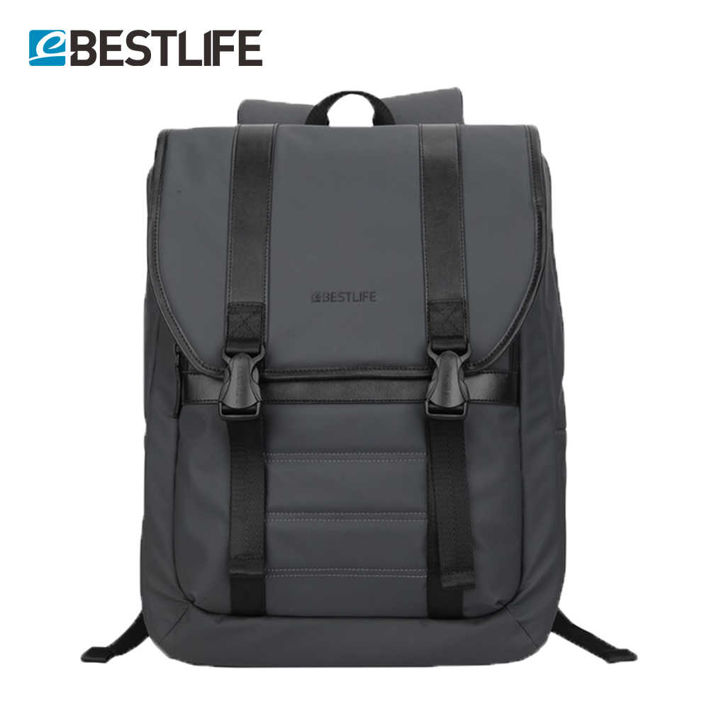 BESTLIFE Anti Theft Backpack For Men PU Leather Laptop Travel Daypacks Male  College School Bag Teenager db529168a85e6