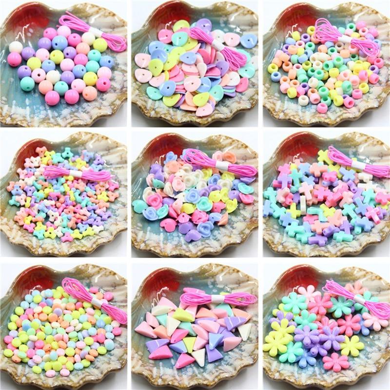 Bricolage perles jouet enfants créatif à la main fille cadeau tissage collier Bracelet fabrication de bijoux artisanat perlé jouets