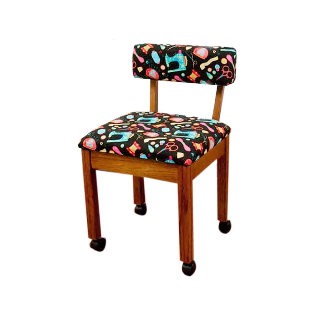 Arrow Home Furniture Black Riley Blake Sewing Notions Fabric Chair arrow home furniture riley blake hexi print sewing chair