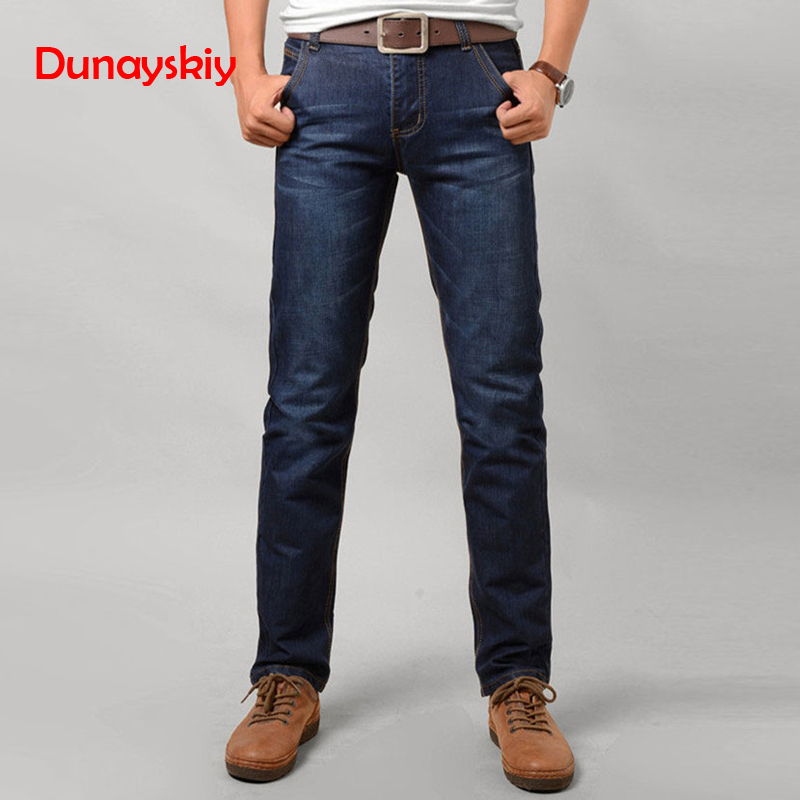 Mens   Jeans   2019 Fashion Casual Male Denim Pants Skinny Trousers Cotton Classic Straight   Jeans   High Quality 2019 Casual Male