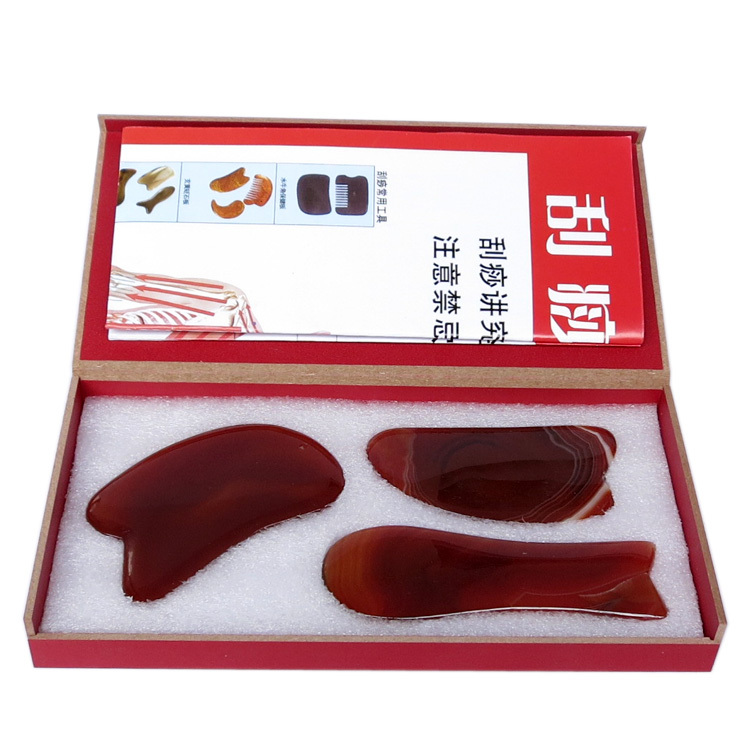 wholesale 100% Natural red agate body Massager face Guasha scrapping massage plate acupoint press traditional massage tool 0018 wholesale 100% natural red agate body face massager guasha scrape massage plate acupoint massage 0017