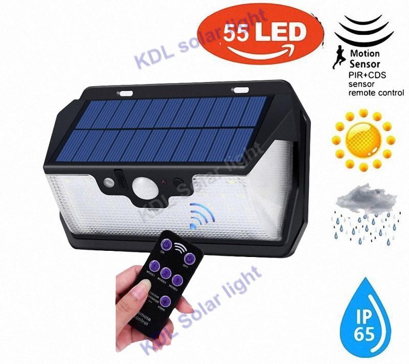 new arrival 55 LED 900lm Solar Light remote control radar smart vs384828103020 led 270 Upgraded leds Solar Ligh torch camp