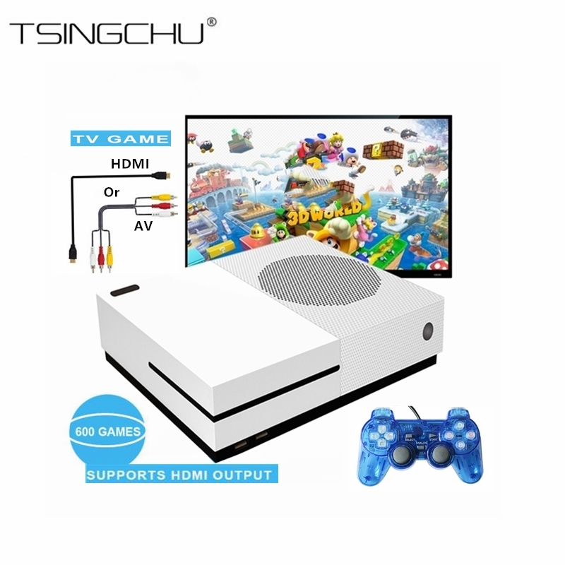 TSINGO 4GB TV Video Game Console Support HDMI&AV Output Built-In 600 Classic Games Family Handheld Game Player HD TV Game Player hd hdmi output mini tv handheld game console video game console for nes games with 500 different built in games 4k tv pal