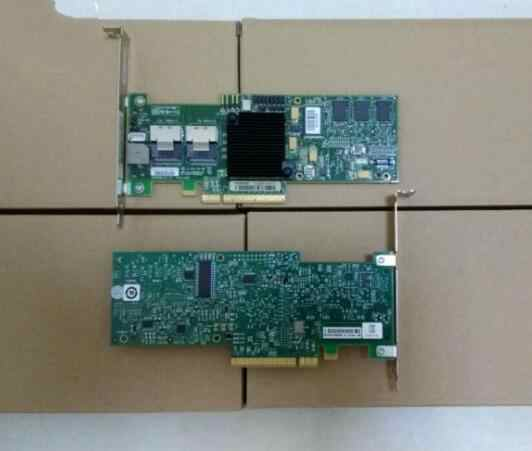 Adapter for LSI 8708EM2 SAS RAID Controller card support raid 0, 1, PCI-e 8X 128M