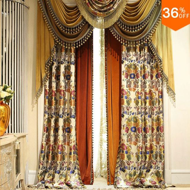 Gold New Nice Colorful Flower Pyramid Egypt Drapes The