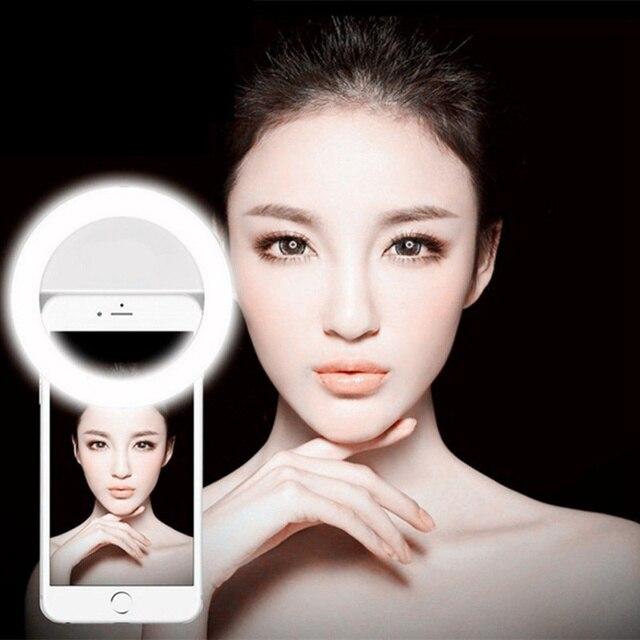 4 צבעים נייד טלפון למלא אור נייד פלאש Led מצלמה טלפון צילום שיפור צילום עבור iPhone סמסונג Smartphone