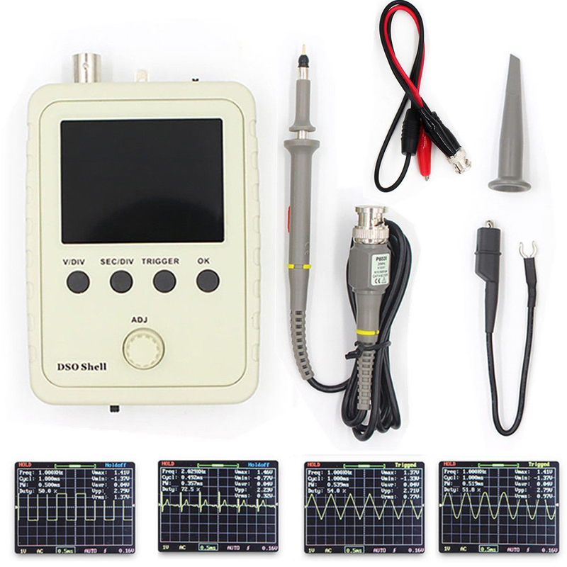 DSO Shell DSO150 Oscilloscope Full Assembled With P6020 BNC Standard Probe VS DSO138  DIY TFT LCD Digital Tester