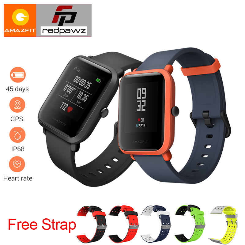 [English Version ]Xiaomi HUAMI Amazfit Youth Smart Watch Bip BIT PACE Lite 32g ultra-light Screen 1.28 Waterproof GPS Compass [english version] xiaomi huami amazfit bip bit pace lite youth mi fit ip68 waterproof glonass smart watch gps english language