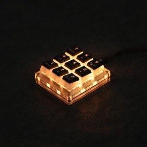 Image 2 - 9 кнопочный QMK Hotswap YMDK RGB с поддержкой функции макросъемки, переключатели типа C MX, механическая клавиатура, цифровая панель для игр, фотошопа