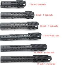 7'' 9'' 10'' 12'' 13.5'' 15'' Rail Mount NSR Free Float Keymod Handguard / Picatinny Rails Fit AR-15 .223/5.56 Rifle цена