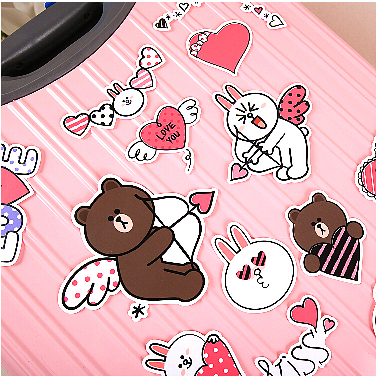 17pcs Creative Cute Self-made hello kitty stickers / trolley case / computer notebook stickers guitar personality notebook computer suitcase stickers car stickers stickers graffiti waterproof a 082