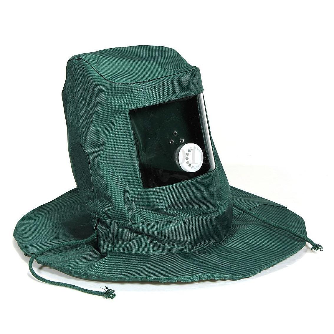 Prix pour Sablage Capot Abrasif Sableuse Masque Cap Vent Poussière Anti De Protection Outil