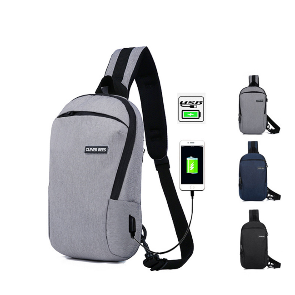 Crossbody-Bags City Short Jogging-Bag Usb-Charging Trip Anti-Theft Male Men School -G4